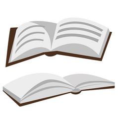 book with ribbon bookmark printed copybook vector image