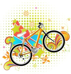 Bright Summer Background with Bicycle vector image