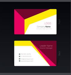 Business card geometric design concept vector