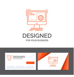 Business logo template for command computer vector