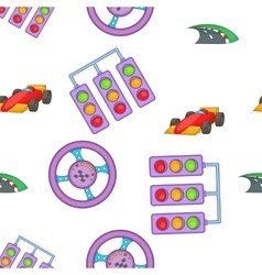 Car race pattern cartoon style vector