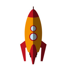 cartoon rocket icon image vector image