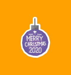 christmas ball 2020 triangle shape backgrounds vector image