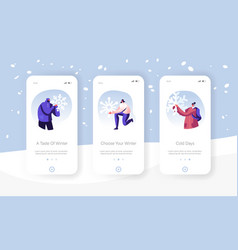 christmas holidays activity mobile app page vector image