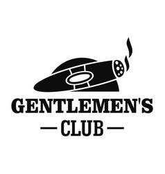 cigar men club logo simple style vector image