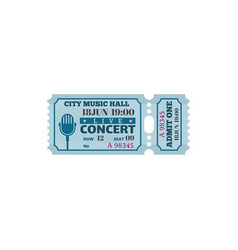 City music hall live concert ticket isolated card vector
