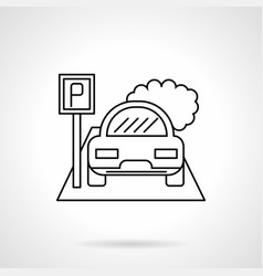 city parking lot flat line icon vector image