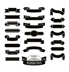 collection different ribbons vector image