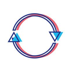 Color arrows in circle symbol of loading progress vector