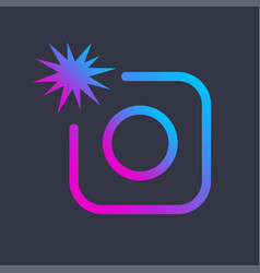 Colorful image of icon photo digital camera vector
