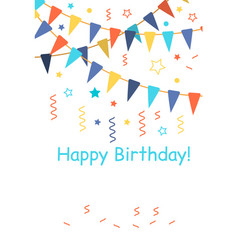 Confetti for birthday carnival celebration vector