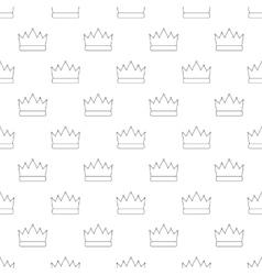Crown pattern seamless vector