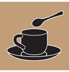 Cup And Teaspoon vector