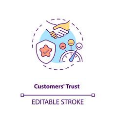Customers trust concept icon vector