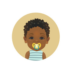 cute afro american african child with a pacifier vector image