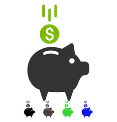 Deposit piggy bank flat icon vector