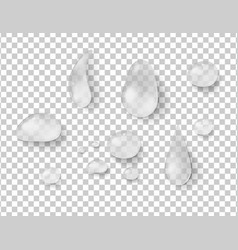 different shapes of raindrops vector image