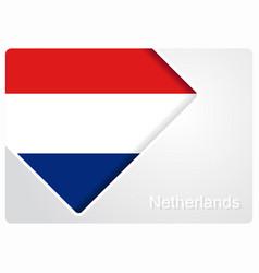 dutch flag design background vector image
