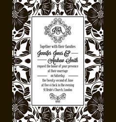 Elegant floral swirls lacy pattern ornate frame vector