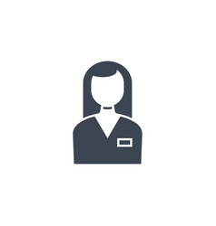 employee woman related glyph icon vector image