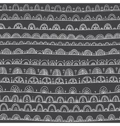 ethnic ornamental seamles pattern black vector image