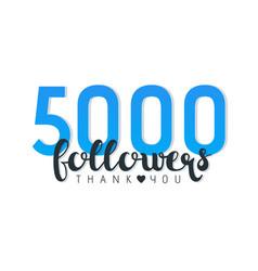 Five thousand followers banner vector