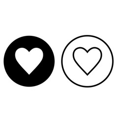 flat heart icon vector image