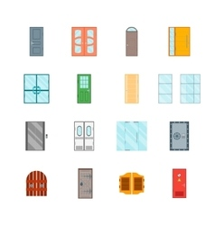 Front Doors Set vector