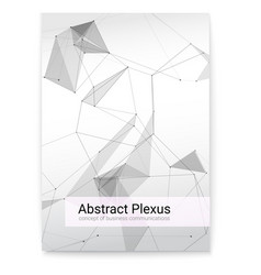 Futuristic plexus shapes cover with abstract 3d vector