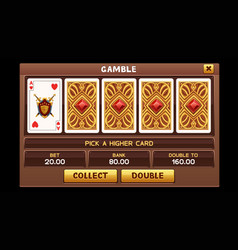 gamble screen for slots game vector image