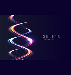 Genetic engineering abstract background with vector