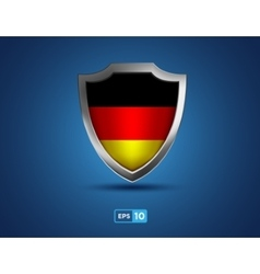 Germany shield on the blue background vector image