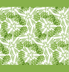 Greenery taraxacum seamless pattern background vector