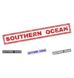 grunge southern ocean textured rectangle vector image