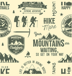 Hiking seamless pattern or background vector