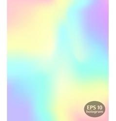 Hologram colorful background vector image