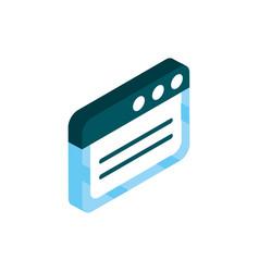 homepage social media isometric icon vector image