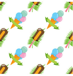 Ice cream seamless pattern for design surface vector