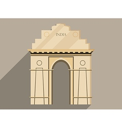 India gate isolation on a white background vector