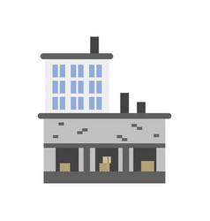 industrial building with warehouse vector image