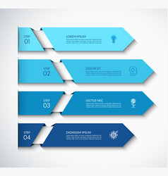 Infographic arrow template with 4 options vector