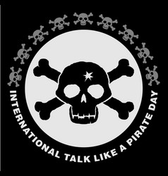 jolly roger international talk like a pirate day vector image