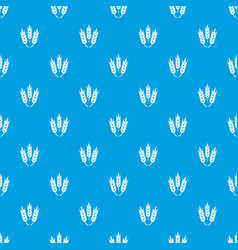 Juicy wheat pattern seamless blue vector