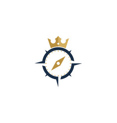 King compass logo icon design vector