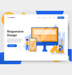 landing page template responsive design vector image