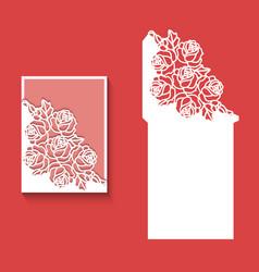 Laser cut envelope template for invitation wedding vector