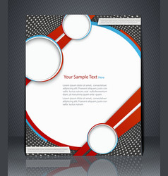 Layout flyer magazine cover template vector