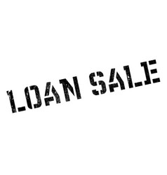 loan sale rubber stamp vector image