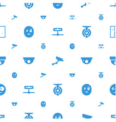 Looking icons pattern seamless white background vector