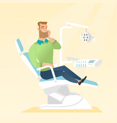 Man suffering from toothache vector